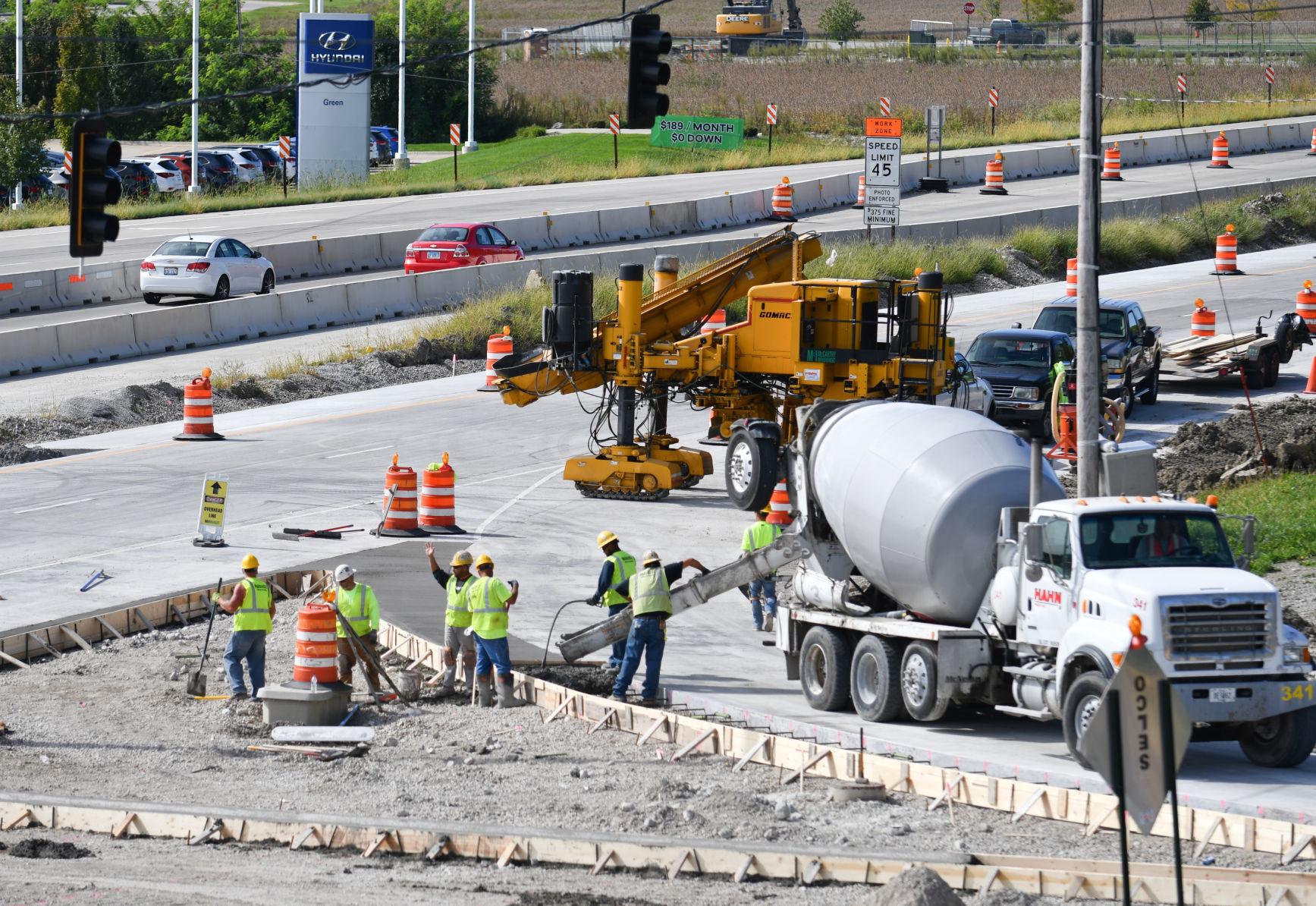 John Deere Road heavy construction progress one