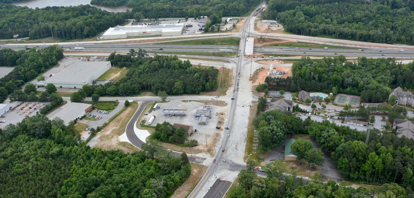 The I-20 Lead Road project included 0.739 mile of widening and reconstruction on Lee Road