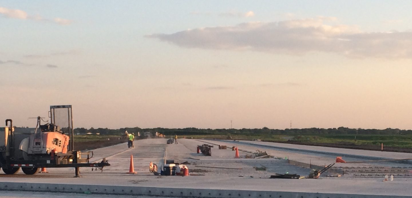 An image of work being done at the Davenport Municipal Airport