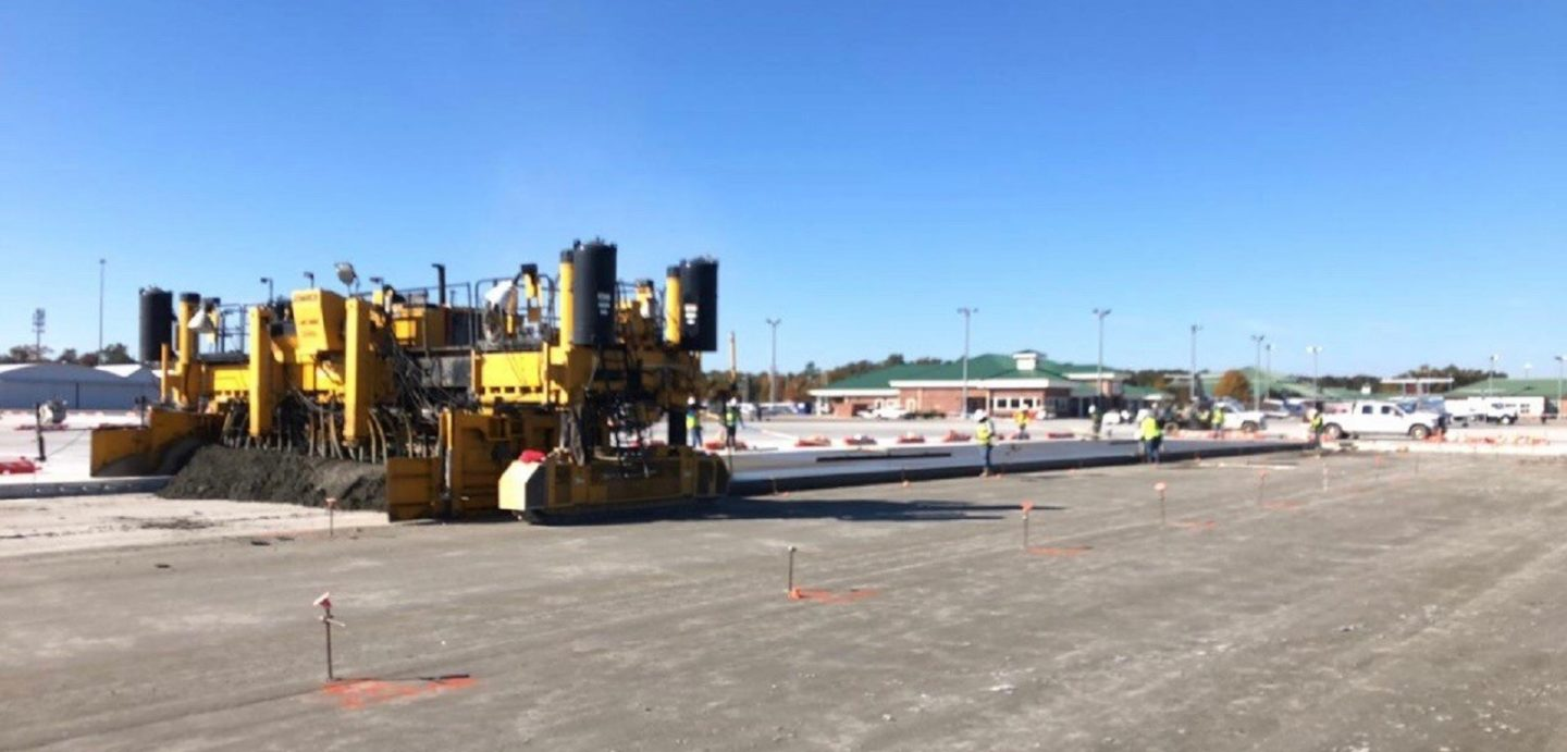 McCarthy Improvement was contracted to complete work at the Augusta Airport Taxiway