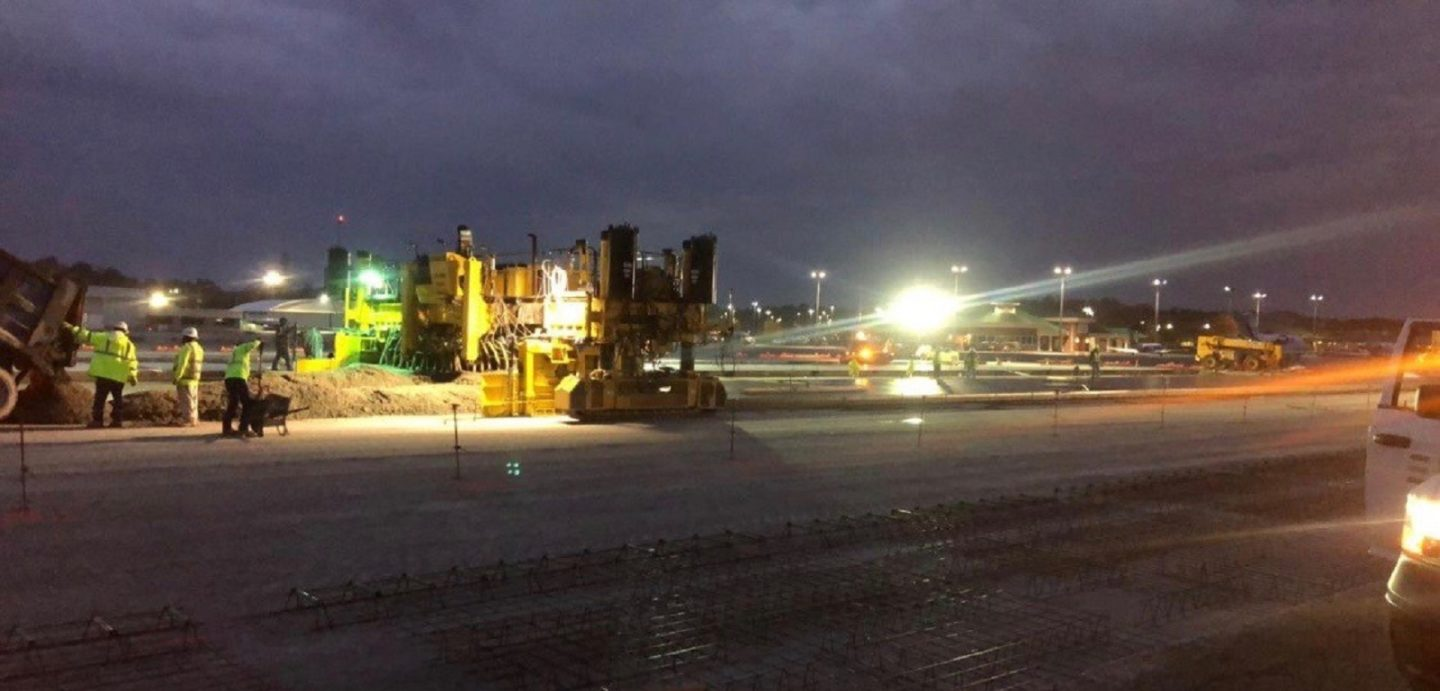 Workers from McCarthy Improvement worked around the clock to ensure the Augusta Airport Taxiway was open in time for The Master's