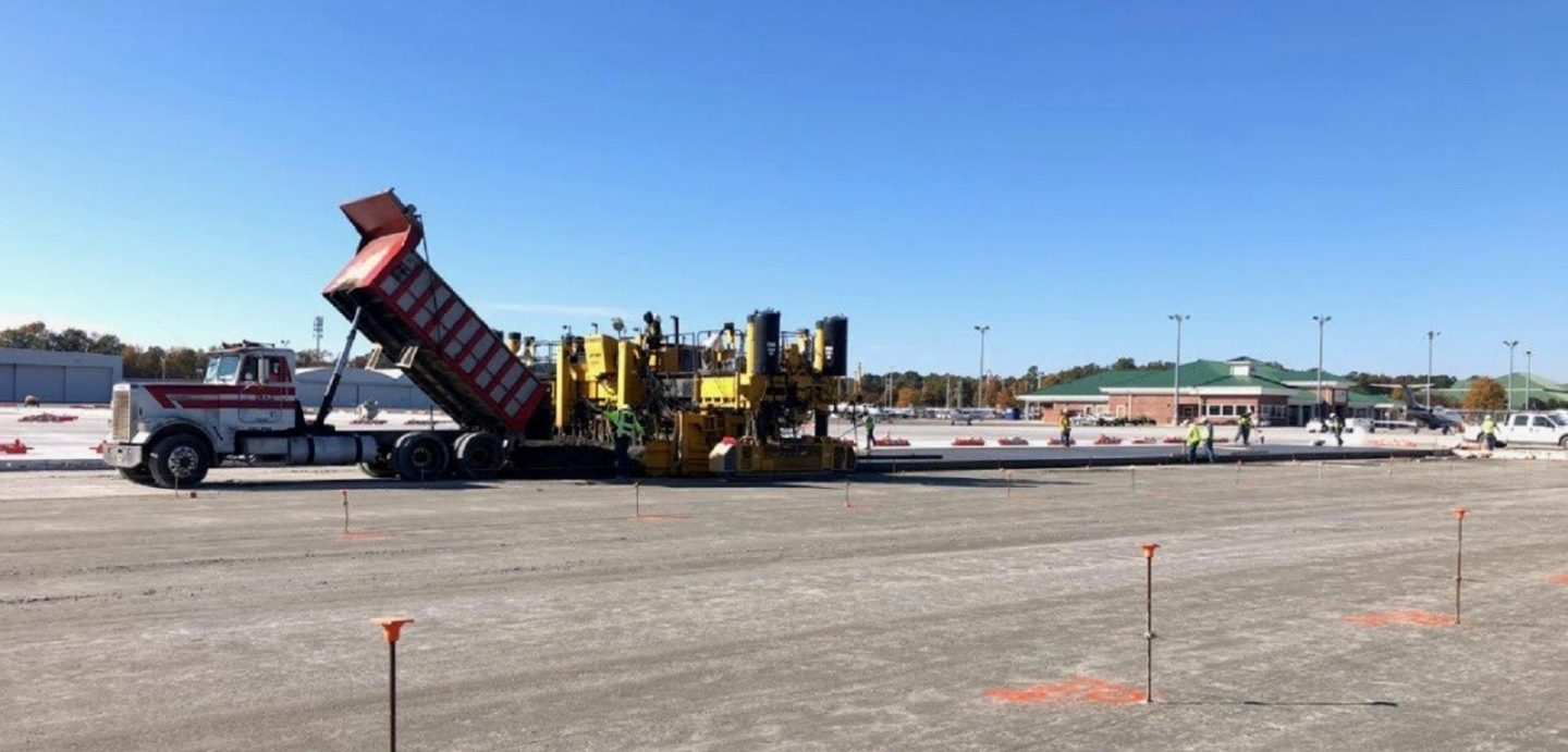 Crews from McCarthy Improvement complete work at the Augusta Airport Taxiway